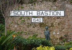 South Bastion wall, Gibraltar Royalty Free Stock Images