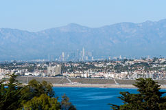 South Bay View of Los Angeles Skyline. Los Angeles Skyline from Redondo Beach Royalty Free Stock Images