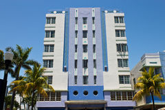 South Beach art deco building in Miami, Florida Stock Photos