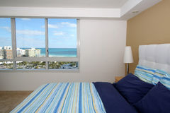South Beach Bedroom Royalty Free Stock Image