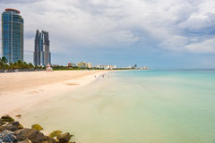 South Beach at cloudy day. Miami, Florida Royalty Free Stock Images