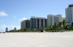 South beach condos. Miami beach condos Royalty Free Stock Images
