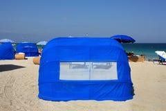 South Beach, Florida beach tent Royalty Free Stock Photos