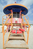 South Beach Lifeguard Hut Stock Images