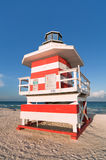 South Beach Lifeguard Hut Stock Image