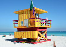 South Beach Lifeguard Stand Stock Photography