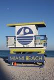 South Beach Lifeguard Stand Stock Photos