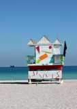 South Beach Lifeguard Stand Royalty Free Stock Images