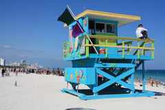 South Beach lifeguard Stand Stock Images