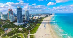South Beach, Miami Beach. Florida. Aerial view. stock photos