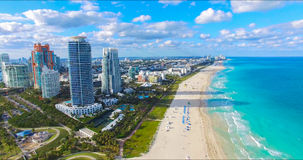 South Beach, Miami Beach. Florida. Aerial view. stock photography