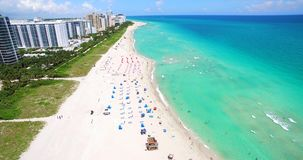 South Beach, Miami Beach. Florida. USA. Aerial view of South Beach, Miami Beach. Florida. USA stock footage