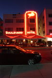 South Beach Miami Boulevard Hotel Stock Photo