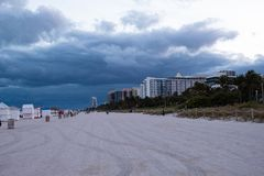 Free South Beach Miami; Cloudy Day, Storm Approaching Royalty Free Stock Image - 136008876