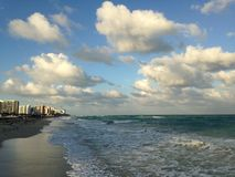 South Beach in Miami, Florida. Stock Image