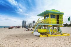South Beach in Miami, Florida, USA Stock Photos