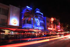 South Beach Neon lights Royalty Free Stock Photos