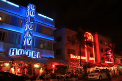South Beach Neon lights Stock Images