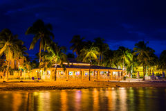 South Beach at night, in Key West, Florida. Royalty Free Stock Photography