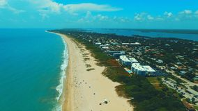 South beach. Ocean captured by dji phantom Stock Image