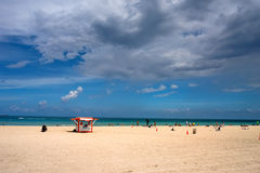 South Beach at summer day, Miami Stock Images