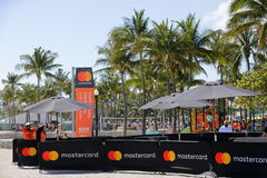 South Beach Wine and Food Festival. MIAMI BEACH, USA: February 26, 2017: Stock image of the South Beach Wine and Food Festival taking place on Ocean Drive Stock Photo