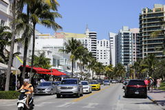 South Beach Wine and Food Festival. MIAMI BEACH, USA: February 26, 2017: Stock image of the South Beach Wine and Food Festival taking place on Ocean Drive Royalty Free Stock Photo