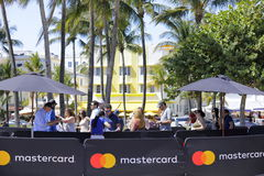 South Beach Wine and Food Festival. MIAMI BEACH, USA: February 26, 2017: Stock image of the South Beach Wine and Food Festival taking place on Ocean Drive Stock Images