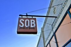 South of Beale Gastropub. Our mission at South of Beale is to give our patrons a warm, welcoming atmosphere accompanied with personable and attentive service Stock Image