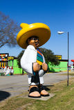 South of the Border, South Carolina. Statue of Pedro outside one of the buildings at South of the Border on the North Carolina/South Carolina border royalty free stock image