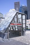 South Boston glass train station exit Stock Photos