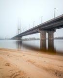 South Bridge in fog. Kiev. Stock Image