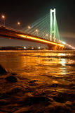 South Bridge at Night, Kiev, UA Stock Image