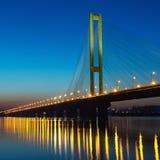 South bridge on sunset. Kiev, Ukraine Royalty Free Stock Image
