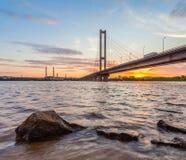 South bridge. Ukraine. Kiev. Royalty Free Stock Photos