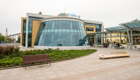 South Bus Station in Burgas, Bulgaria Stock Photo