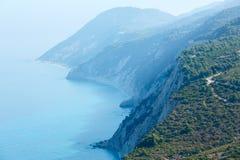 South cape of Lefkas island (Greece). South cape of Lefkas island (Greece, Ionian Sea Royalty Free Stock Photos