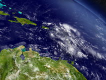 South Caribbean from space Stock Photography