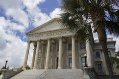 South Carolina Custom House. Pillars at the entrance to the Charleston Custom House in South Carolina, America Stock Image