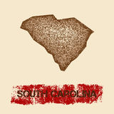 South Carolina distressed map. Stock Photography