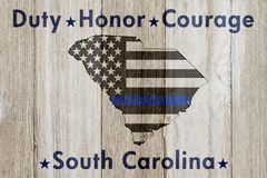 South Carolina Duty Honor and Courage message Royalty Free Stock Photography