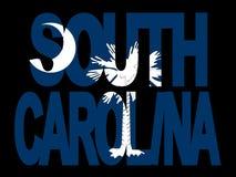South Carolina with flag Stock Photo