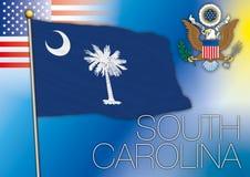 South carolina flag Royalty Free Stock Images