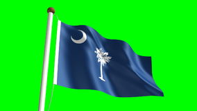 South Carolina flag Royalty Free Stock Photos