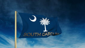South carolina flag slider style with title stock footage