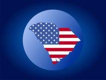 South Carolina globe Stock Image