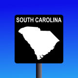 South Carolina highway sign Stock Photography