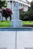 South Carolina Law Enforcement Officers Memorial in Columbia, SC Stock Photo