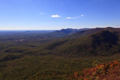 South Carolina Mountains. Table Rock Mountain from Caesars Head State Park in upstate South Carolina during the fall royalty free stock image