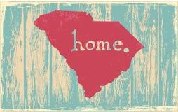 South Carolina nostalgic rustic vintage state vector sign Stock Photo